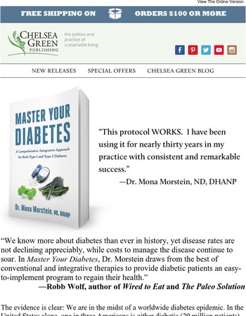 Take back your health with new books from Chelsea Green