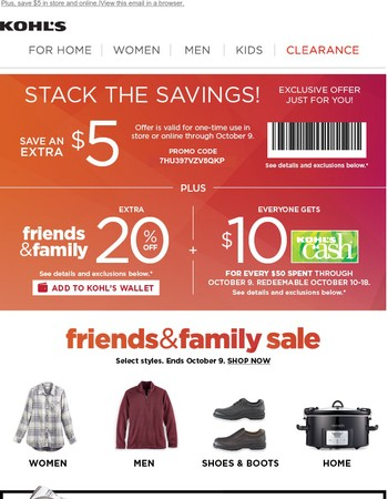 Get moving: 20% off savings for our friends & family are here!