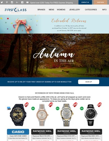 Watch out for amazing deals this Autumn | Over 10,000 watches in-stock |
