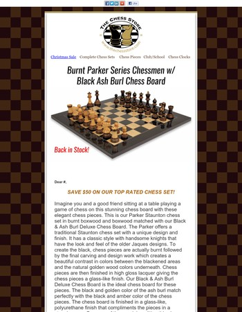 Our Most Popular Chess Set is Back in Stock!