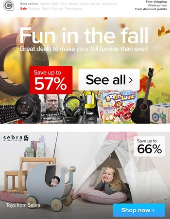 Great deals to make your fall funnier than ever
