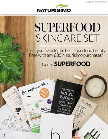 Your gift: 12 superfood skincare sample set >