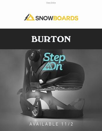 New For 2018 | Burton Step On Bindings!