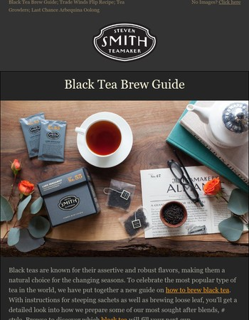 Our New Black Tea Brew Guide