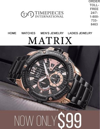 Can't be Beaten/ Can't Be Repeated: The awesome Matrix Chronograph....