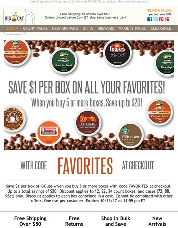 Time to save on all your favorite K-Cups!