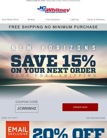 Celebrate Columbus Day with a 15% discount on your favorite brands