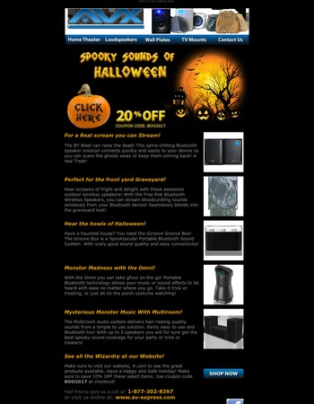 Spooky Sounds for Halloween 2017 from AV-Express