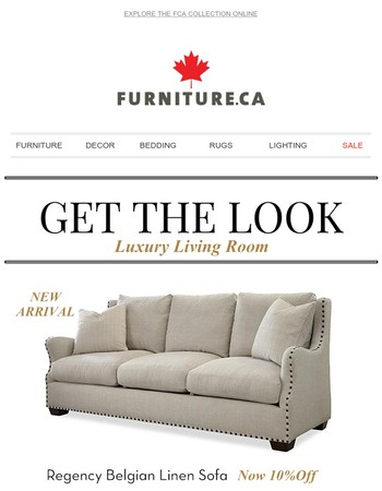 Glamourous Luxury Living Room -  Get The Look!