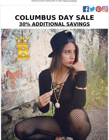 Columbus Day Hip Hop Jewelry Savings Event