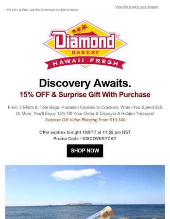 Discovery Day Savings. One Day Only!