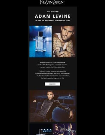 Introducing Adam Levine - NEW Fragrance Ambassador for Y
