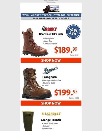 Your New Pair of Hunting Boots Are Here!