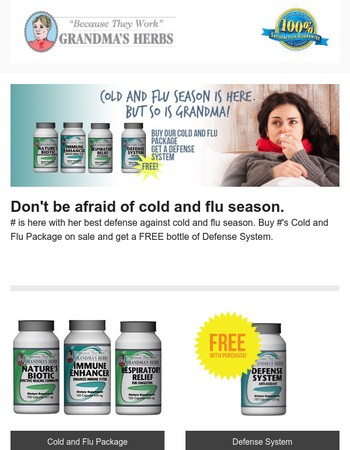 Just in time for COLD and FLU Season! SAVE NOW!