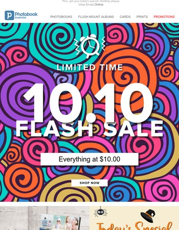 10.10 Flash sale ⚡ Everything at $10.00