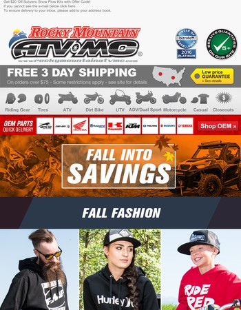 Fall Casual and Limited Time Offers!