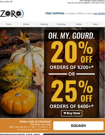 This Sale is Autumn-matic! (Up to 25% Off)
