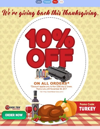 Laser Tek Services Thanksgiving Promo