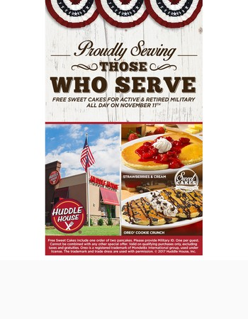 Free Sweet Cakes for Those Who Serve!
