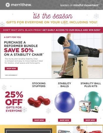 ['Tis the season] Buy a Reformer Bundle, get 50% off the Stability Chair