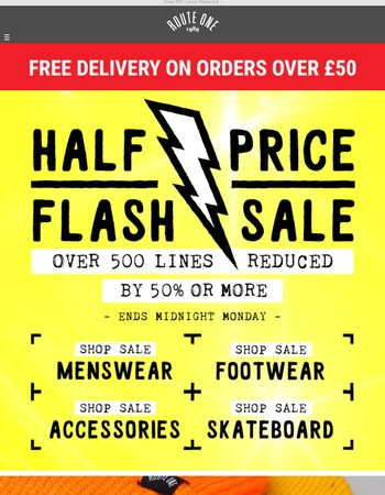 Half Price Flash Sale ⚡ This Weekend Only