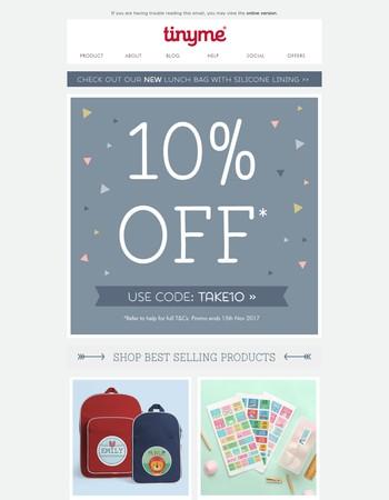 'Tis the season to SAVE 10% sitewide! Ho Ho Hooray!