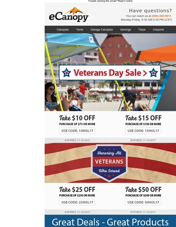 Veterans Day Sale -- Thank you, Veterans!