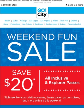 3 Days Only! ⭐  EXTRA $20 Off ⭐  Attractions, Activities, & More