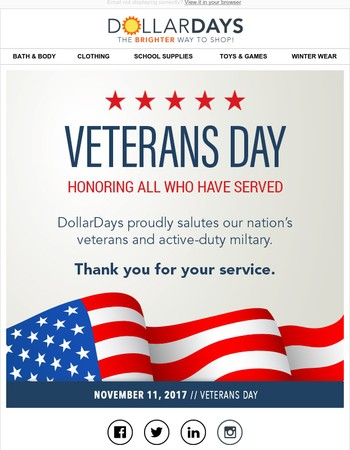 Thank You, Veterans & Active-duty Military