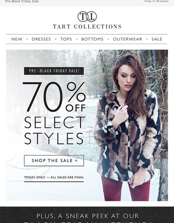 Calm before the storm… 70% OFF!
