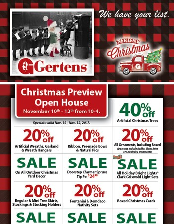 You're invited to Christmas Preview Open House!