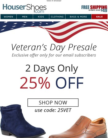 2 days only: 25% off!