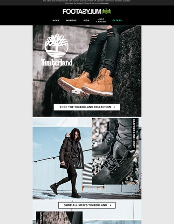 THIS is important! Update your style with Timberland... Beat the crowd and get the look