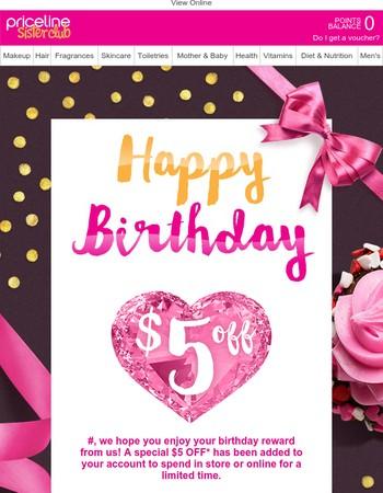 Please enjoy your birthday reward