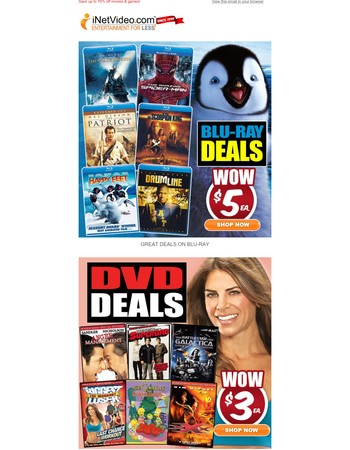 Blockbuster movies at bargain prices