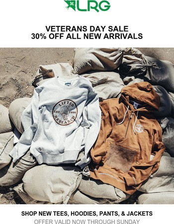 Veterans Day Deal | Take 30% Off New Arrivals