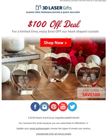 100 reasons to give a heart shaped gift...