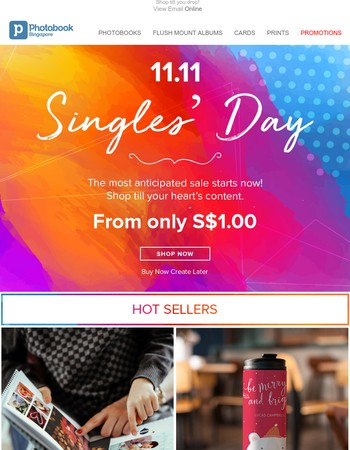 ⚡ 11.11 deals from as low as S$1.00