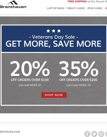 Veterans Day Sale - Up to 35% OFF!