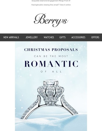 Planning a Christmas Proposal?
