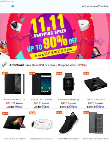 11.11 Sizzling Savings Start Now: Snap Up Mi Redmi 4X $111.11, Xiaomi Huami Bip $49.11 for 24 hours!