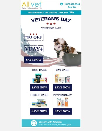 Last Chance - Veteran's Day Weekend Sale