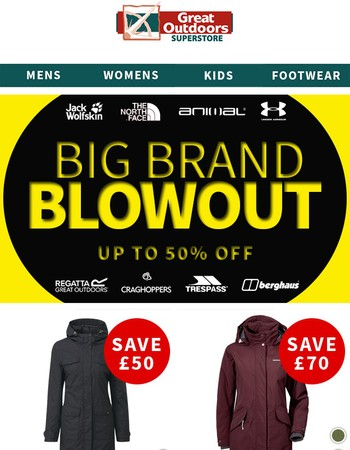 Big Brand Blowout   More Huge Savings   Up to 50% Off Major Brands