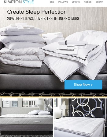 20% off Kimpton bedding starts now.