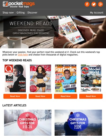Weekend Reads   Discover a great magazine this weekend