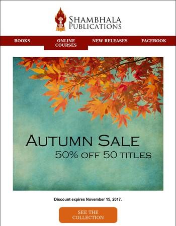 Last Chance for Our Autumn Sale