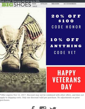 Shop Our Veterans Day Weekend Sale Now!