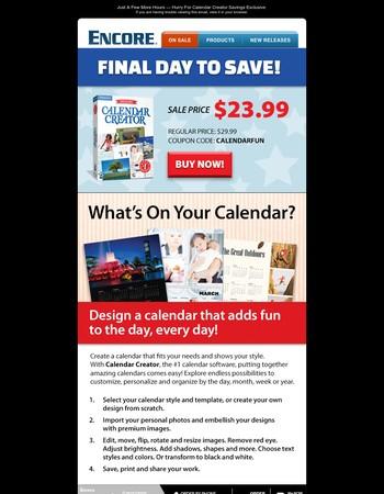 Day Maker! Calendar Creator Savings Ending