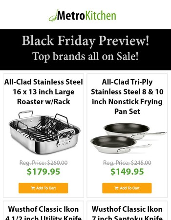Black Friday Preview! - Top brands all on Sale!
