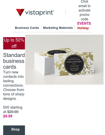 Enjoy the busy season with 25-50% off business essentials.
